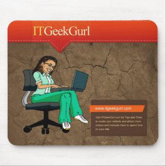 ITGeekGurl Mousepad Tapetes De Ratón