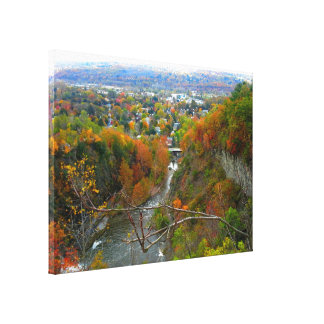 ITHACA, CAYUGA ST. GORGE stretched canvas Canvas Print