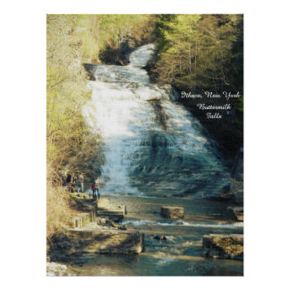 ITHACA NEW YORK BUTTERMILK  FALLS poster