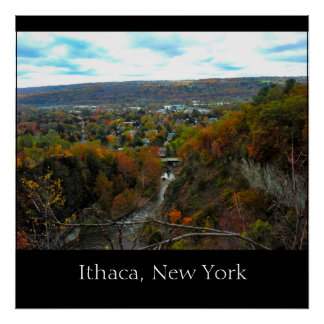 ITHACA NEW YORK GORGE poster