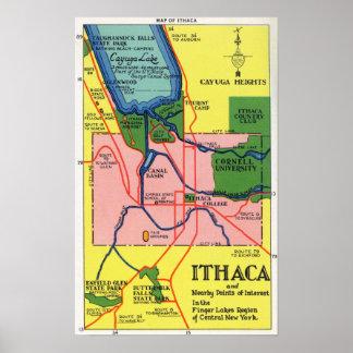 Ithaca y puntos próximos del interés impresiones