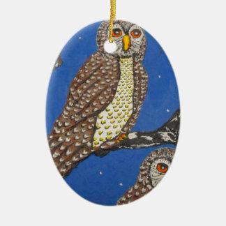IThe Watchers Of The NightMG_0248.JPG Ceramic Ornament