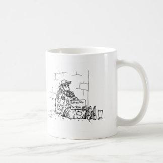 Itinerancia - dios bendice taza básica blanca