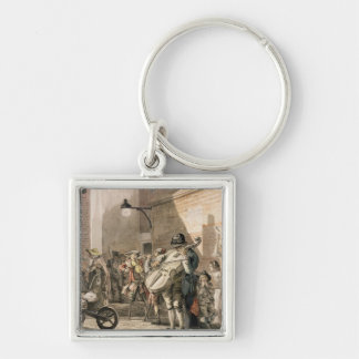 Itinerant Musicians playing in a poor part of town Keychain