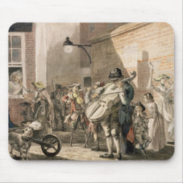 Itinerant Musicians playing in a poor part of town Mouse Pad