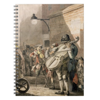 Itinerant Musicians playing in a poor part of town Notebook