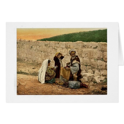 Itinerant shoemaker of Jerusalem, Holy Land classi Greeting Cards