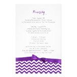 Itinerario púrpura y gris del zigzag moderno papeleria personalizada