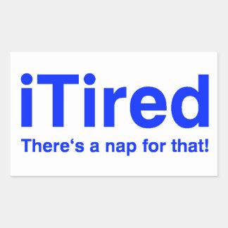 iTired hay una siesta para eso Rectangular Altavoz