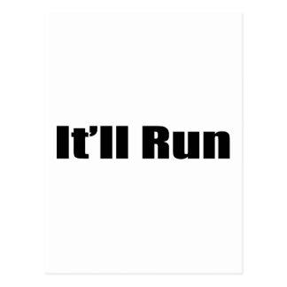 It'll Run By Gear4gearheads Postcard