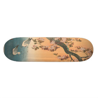 Ito, Duck and Cherry Blossoms Japanese Woodblock S Skateboard Deck