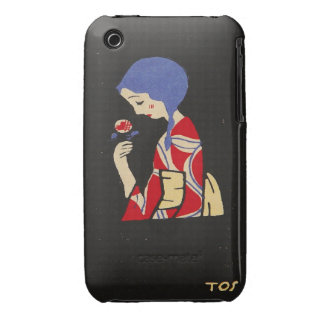 Ito Girl with Flower Blackberry Curve Case-Mate Ca iPhone 3 Covers