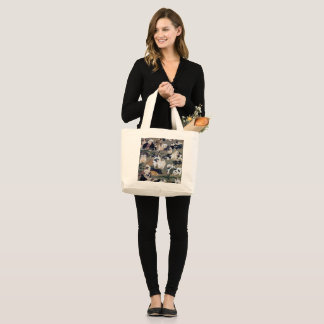 Itō Jakuchū, Itoh it is young 冲, hundred dog Large Tote Bag