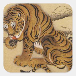 Ito Jakuchu Tiger Stickers
