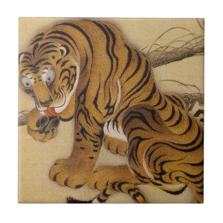 Ito Jakuchu Tiger Tile