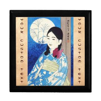 Ito Shinsui Autumn Full Moon Young beautiful Girl Jewelry Box