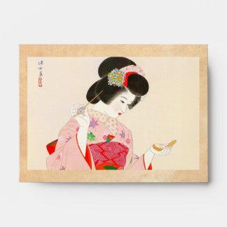 Ito Shinsui compone a la señora japonesa del geish
