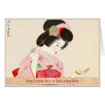 Ito Shinsui compone a la señora japonesa del geish Tarjeta Pequeña
