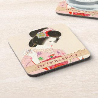 Ito Shinsui Make up vntage japanese geisha lady Beverage Coaster