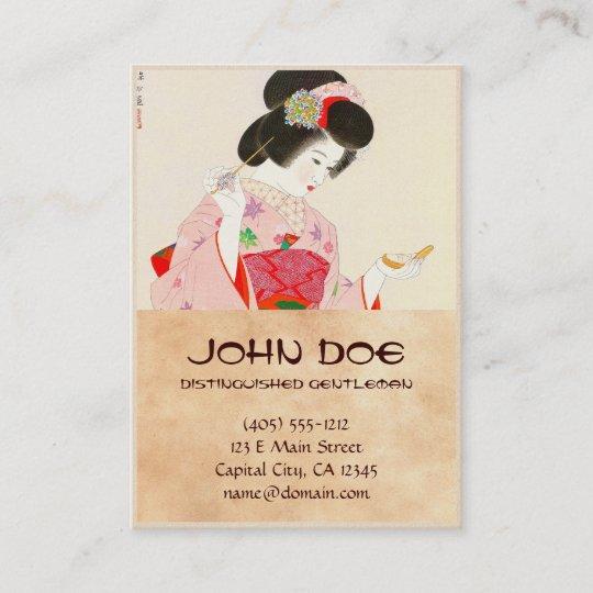 Ito shinsui make up vntage japanese geisha lady business card ito shinsui make up vntage japanese geisha lady business card reheart Image collections