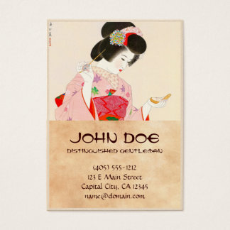Ito Shinsui Make up vntage japanese geisha lady Business Card