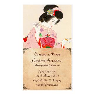 Ito Shinsui Make up vntage japanese geisha lady Business Card