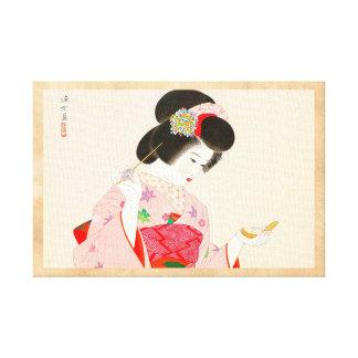 Ito Shinsui Make up vntage japanese geisha lady Canvas Print