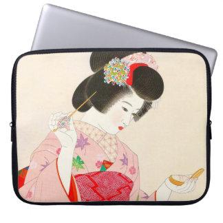 Ito Shinsui Make up vntage japanese geisha lady Computer Sleeves
