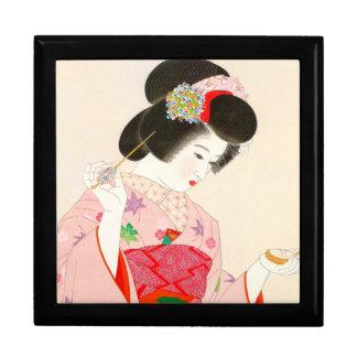 Ito Shinsui Make up vntage japanese geisha lady Gift Box