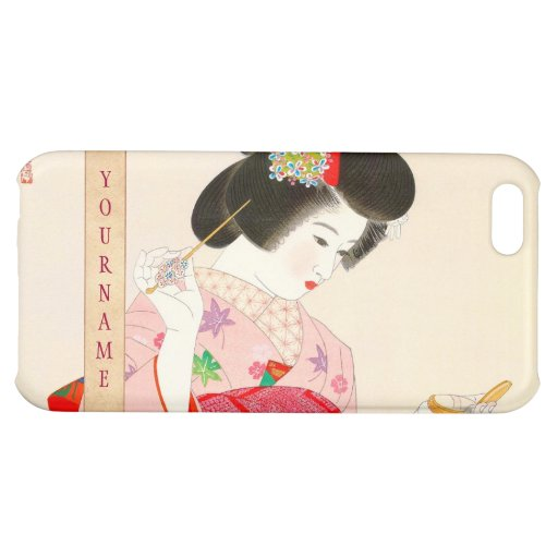 Ito Shinsui Make up vntage japanese geisha lady Cover For iPhone 5C