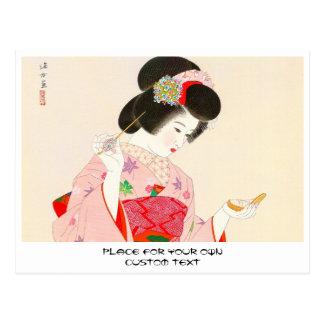 Ito Shinsui Make up vntage japanese geisha lady Postcard