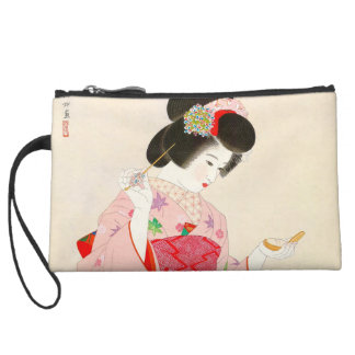 Ito Shinsui Make up vntage japanese geisha lady Wristlet Wallet