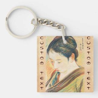 Ito Shinsui Sketch of  Bijin kapanese portrait art Keychain