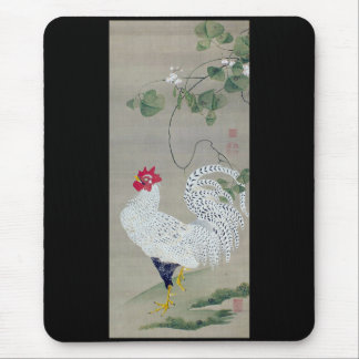 Itoh it is young the 冲 _white male chicken figure mouse pad