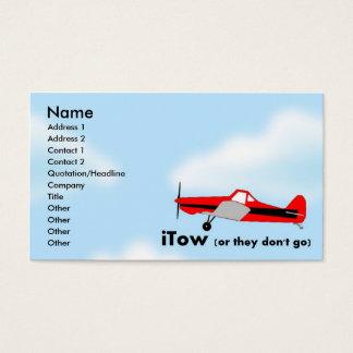 iTow Sailplane Glider Business Card