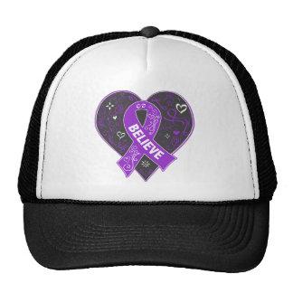 ITP Believe Ribbon Heart Trucker Hat