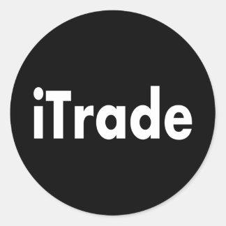 itrade classic round sticker