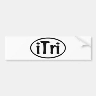 iTri Oval Bumper Sticker