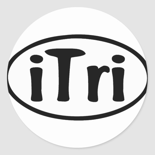 iTri Oval Classic Round Sticker