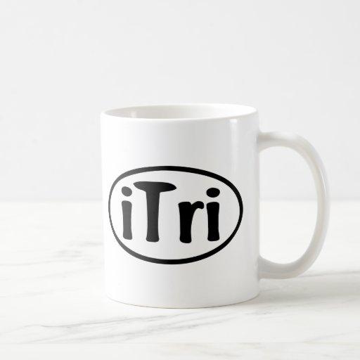 iTri Oval Classic White Coffee Mug