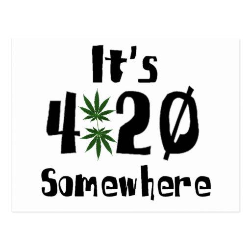 it's 420 somewhere postcard