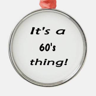 It's a 60's thing! sixty sixties christmas tree ornament