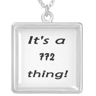 It's a 772 thing! silver plated necklace
