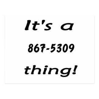 it's a 867-5309 thing postcards