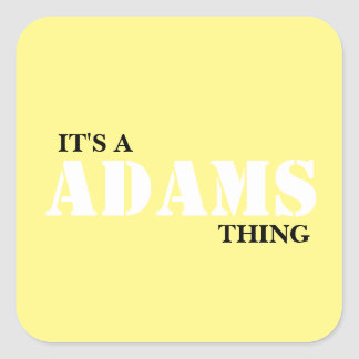 IT'S A ADAMS THING SQUARE STICKER