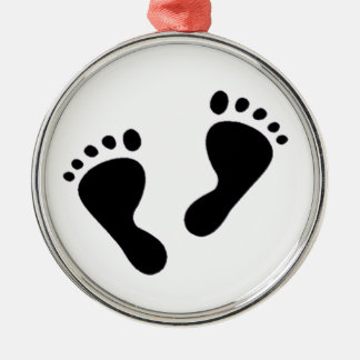 It's a Baby - Baby Feet Metal Ornament