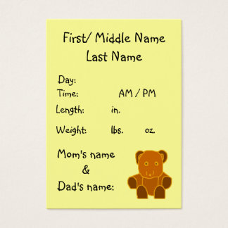 It's A Baby! - birth announcement ... - Customized Business Card