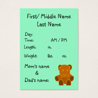 It's A Baby! - birth announcement template Business Card