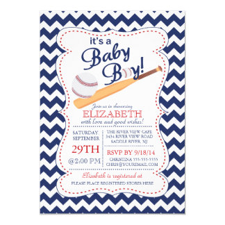 It's a Baby Boy Baseball Baby Shower Card