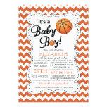 It's a Baby Boy Basketball Baby Shower Custom Invite